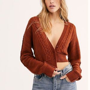NWT Free People Moon River Cropped Cardigan
